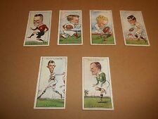 WILLS CIGARETTES - RUGBY INTERNATIONALS CARDS ORIGINAL 1929  X 6