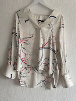 CREAM SILKY BLOUSE FLOATY TOP 14 M&S GLAM SUMMER BOHO TOWIE CELEB PRETTY CHIC