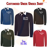 Personalised Gents Classic Rugby Sports Shirt Custom Printed Text Image Design