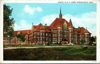 IOOF Oddfellows Fraternal State Home Springfield Ohio 1930 Postcard
