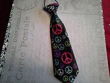 boys girls infant toddler child necktie peace multicolor photo prop