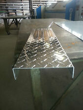 ".063 Aluminum Diamond Plate Channel 1/2"" x 2"" x 1/2"" x 48"""