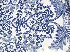 BLUE PARADISE LACE RETRO KITCHEN DINING PATIO OILCLOTH VINYL TABLECLOTH 48x108