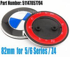 82mm Front Hood Fender Badge Emblem Sticker For BMW 1 5 6 Series Z4 M6 2011-2015