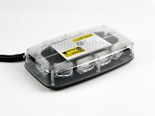 10 LED COB Amber Oval Top Flash Traffic Emergency Advisor Mini Strobe Warn Light