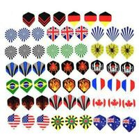 60Pcs / lot Dart Flights in 20 Arten von Mustern Nice Darts Neu Flight P8H0