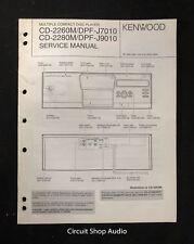 Original Kenwood CD-2260M/2280M, DPF-J7010/J9010 CD Player Service Manual