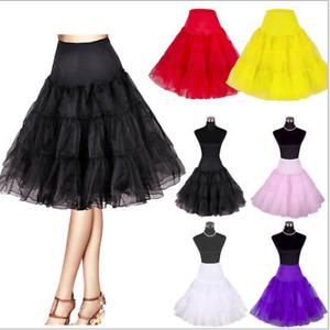"""Vintage Petticoat 26"""" Retro Underskirt 50s Swing Fancy Net Skirt Rockabilly H1"""