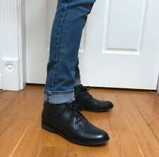 Steve Madden Black Falyn leather cuffed ankle boots size 7.5 very light wear