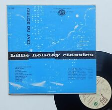 "Vinyle 33T Billie Holiday   ""Billie Holiday classics"" - 25cm"