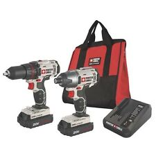 PORTER CABLE PCCK604L2 20V Max 20 Volt Lithium Ion 2 Tool Cordless Combo Kit