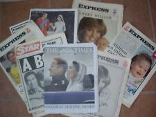 EIGHT NEWS PAPERS 1982-2011 BIRTH THEN WEDDING OF PRINCE WILLIAM