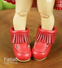 Fatiao - New Lati Yellow Pukifee BJD Doll Short boots shoes - Red (Size 2.5cm)