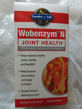 GARDEN OF LIFE WOBENZYM N JOINT HEALTH 200 ENTERIC-COATED TABLETS EXP.08/20+