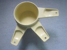 TUPPERWARE MEASURING CUPS - 3 - HARVEST GOLD