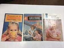 KODACHROME DATA BOOK MAGAZINES LOT OF 3 1940 S TO 1960 S VINTAGE RARE KODAK