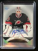 2017-18 UD Premier Rookie Alex Nedeljkovic Carolina Hurricanes Auto
