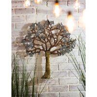 "Tree Wall Sculpture Outdoor Safe Metal Art 22"""