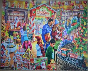 """CHRISTMAS SWEETSHOP"" WHITE MOUNTAIN USA 2020 1000 PIECE PUZZLE MINT CONDITION."