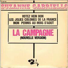 """SUZANNE GABRIELLO """"LA CAMPAGNE"""" 60'S EP BARCLAY 71107"""