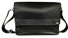 Calvin Klein CK Cotton Nylon Messenger Bag/Laptop Computer Sleeve Black New $218