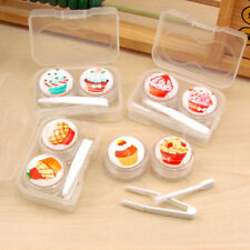 Cute Transparent Cartoon Cake Cream Shape Contact Lens Case Box Set Container