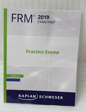 Kaplan Schweser FRM 2019 Exam Prep Practice Exams Part II Mock Exams NEW
