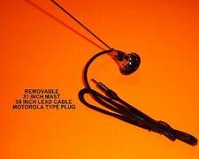 NEW REPLACEMENT AM/FM RADIO ANTENNA VINTAGE STYLE ROUND BASE UNIVERSAL MOUNT NOS