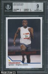 2008 Sports Illustrated SI For Kids Olympics #294 Usain Bolt RC Rookie BGS 9