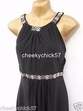 BNWT Monsoon Giselle Black Embellished Maxi Evening Dress - Sz 18 Cocktail Prom