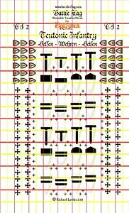 Teutonic Order Infantry Transfers. Decals for Fireforge Minis (Set No.2)
