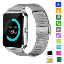 New listing Bluetooth Smart Watch Stainless Steel Wristwatch Gsm Unlocked Phone for Android