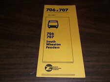 APRIL 1981 CHICAGO RTA ROUTE 706/707 SOUTH WHEATON BUS SCHEDULE