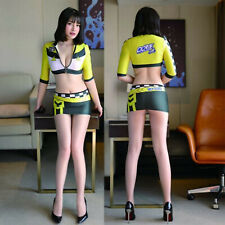 Sexy Race Qreen Costume Cosplay Girl Short tight skirt RQ Moter Racing