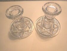 PAIR OF GLASS CANDLE HOLDER FOR TAPERED CANDLES - VINTAGE - EXCELLENT CONDITION