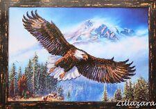 Adler Vogel Stickpackung Stickbild Stickset Bild sticken mit Perlen 205