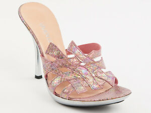 New Vivien Lee Python Pink Leather Made in Italy Shoes Size 39 US 9