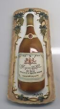 Mary Beth Zeitz French Sauvignon Blanc Wine Inspired Wall Art Resin 3D Plaque