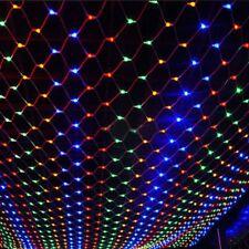 LED Net Mesh String Light 1.5x1.5M 96 LEDs Window Wall Garden Christmas Wedding