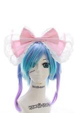 LH-01-01 Rosa Riesen XXL Schleife Gothic Lolita Haarreif Headband Cosplay