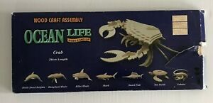 3D Crab Wooden Craft Assembly NEW in Packaging Vintage 1993 Puzzle