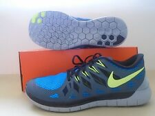 New Nike Free 5.0 Obsidian Volt Blue Running Shoes sz 10