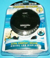 NEW SEALED COBY PERSONAL CD PLAYER BLACK CX-CD109 WITH HEADPHONES LCD DISPLAY