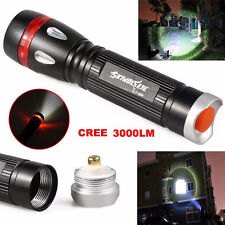 3000lm 3 Modes Zoom XML T6 LED 18650 Waterproof Flashlight Torch Lamp Light