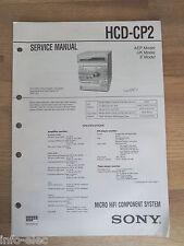 Schema SONY - Service Manual Micro Hifi Component System HCD-CP2 HCDCP2
