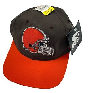 VTG Starter Cleveland Browns Embroidered Mens Snapback Hat 90s Two Tone Special
