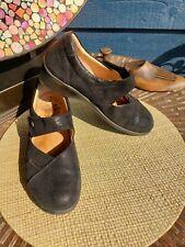 Finn Comfort Aquila Black Leather Mary Jane Shoe US 9 W EU 40 UK 7 D orig $335