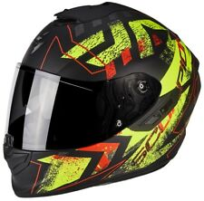 CASCO MOTO INTEGRALE SCORPION EXO 1400 AIR PICTA BLACK YELLOW MATT OPACO TG S