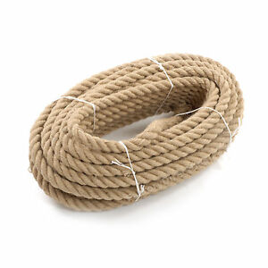 24mm Thick Heavy Duty Jute Rope Garden Swing Decking Cord Decor Craft 123456789