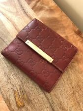 Vintage Gucci Red Leather Wallet